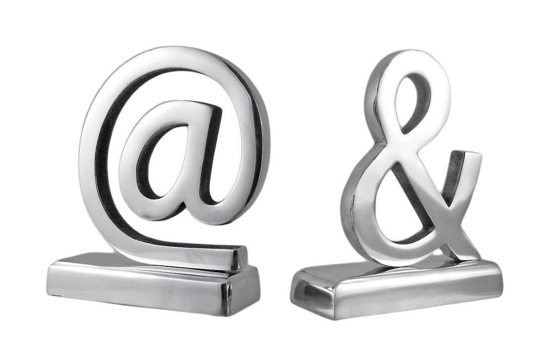 Amazon Cast Aluminum At And Ampersand Symbol Bookends Home
