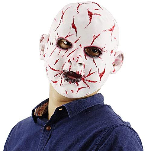 Bingirl Halloween Bloody Zombie Face Horror Mask Vivid Latex Headset Make-up Party Decoration Happy Festival