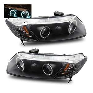 Honda Civic Projector Headlights 99 00 7 .com: SPPC Projector Headlights Black (CCFL Halo) For Honda Civic ...