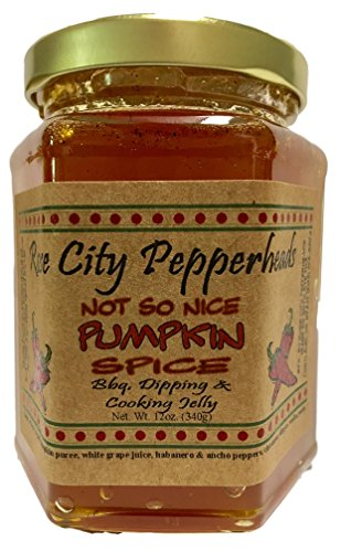 Birthday Jelly - Not So Nice Pumpkin Spice 12 Ounces - Rose City Pepperheads Pepper Jelly - Birthday, Hostess, Get Well, Christmas Jelly Gift (Not So Nice Pumpkin Spice)