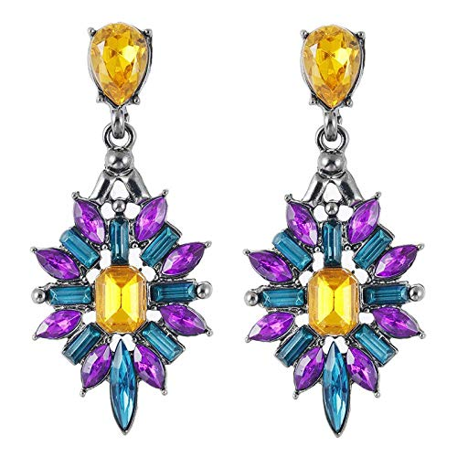 - Whawhodp New Colorful Flower Large Starburst Crystal Pendant Stud Pendant Design Luxury