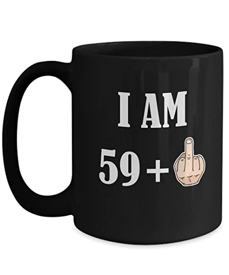 60th Birthday Gifts For Women Men 59 Plus 1 Happy 60 Years Old Yr Funny Coffee