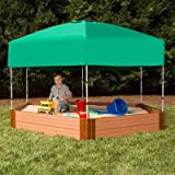 Frame It All Telescoping Hexagon Sandbox Canopy and Cover
