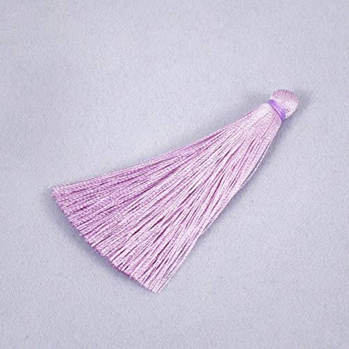 (2Pcs 16 Colors Cotton Thread Tassel Charm Pendant Tassels Jewelry 65mm DIY (Color - Purple))