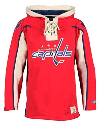 NHL Washington Capitals Men's Lacer Heavyweight Hoodie, Large, Red