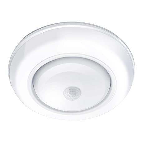 Motion Sensor Light Yurnero Battery Operated Motion Sensing LED Ceiling Light Indoor for Laundry Bathroom Steps