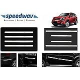 Speedwav Full Chrome Bumper Protector + Side Beading-Mahindra XUV 500 Type 1 (2012-2014)