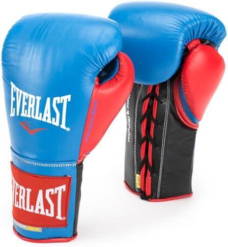 Everlast パワーロック プロ ファイトグローブ 10オンス ブルー/レッド パワーロック プロ ファイトグローブ
