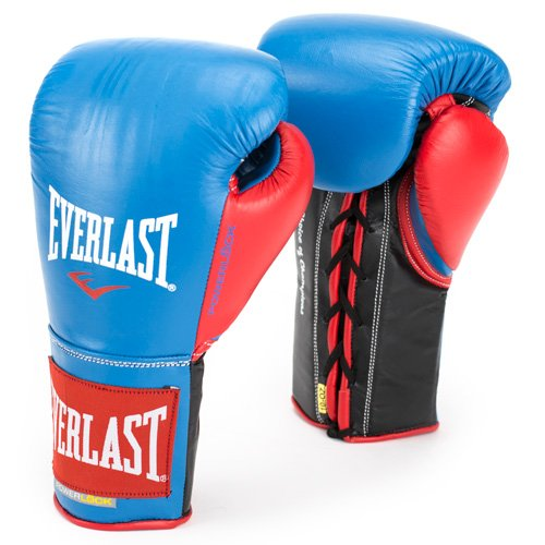 Image of Boxing Gloves Everlast PowerLock Pro Fight Gloves 10Ozlxl Blu/Red PowerLock Pro Fight Gloves