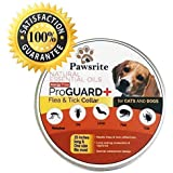 Pawsrite Premium All-Natural Flea and Tick Prevention Control for Dogs and Cats Flea Collar. Flea and Tick Collar for Dogs, Cats & Puppies. 8 Month Protection Collar Treatment for Small and Large Dog