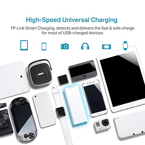TP Link 15600mAh high Capacity mobile Battery Charger LG Battery 3A swift payment along with practical Charging combined Ports strength Bank For iPhone iPad Samsung Galaxy Kindle Fire GoPro Fitbit a great dea External Battery Packs