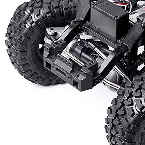 JVSISM Vordere STO?Stangen Halterung Servo Vorne mit Trail Crawler Parts Licht Lenkgetriebe Halterung f/ür 1//10 RC Car Schwarz