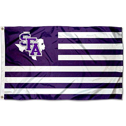 Stephen F. Austin Lumberjacks Stars and Stripes Nation Flag