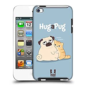 Head Case Designs Hug Piper The Pug Protective Snap-on Hard Back Case Cover for Apple iPod Touch 4G 4th Gen