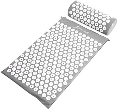 Prosource Fit Acupressure Mat and Pillow Set for Back/Neck Pain Relief and Muscle Relaxation