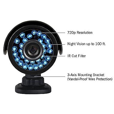 Night Owl cam-ahd7 1 Megapixel Cámara de vigilancia - 4 unidades: Amazon.es: Informática