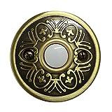 LNJEXN XJ1710 Round Doorbell Button,Antique Brass Finish