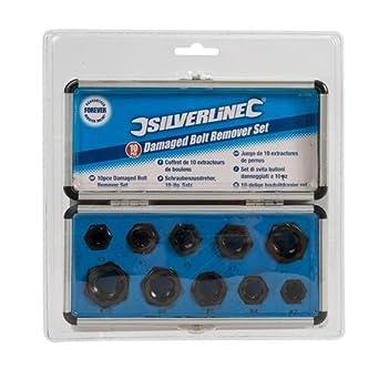 Silverline 467893 - Extractores de pernos, 10 pzas (10 piezas)