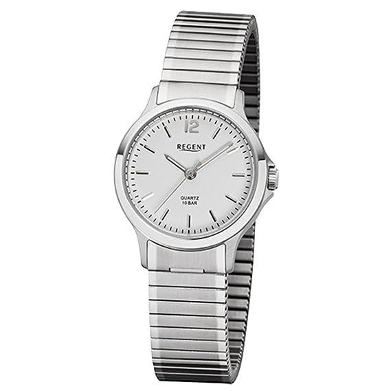 Regent de mujer reloj de pulsera elegante analógico de acero inoxidable Pulsera de plata reloj de