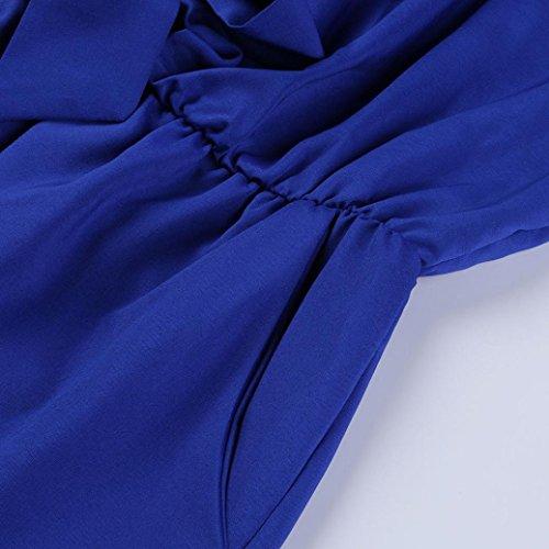 Manica feiXIANG Elegante Mini Senza Playsuit Jumpsuit Blu Estate Spiaggia Corta Sexy Shorts Pantaloncini Tuta Jumpsuit donna Pagliaccetto da Bodycon Donna Partito Estivo maniche qFEwE1I