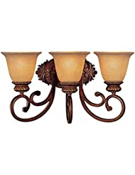 Minka Lavery 5943-126, Belcaro Reversible Glass Wall Vanity Lighting, 3 Light, 300 Watts, Walnut