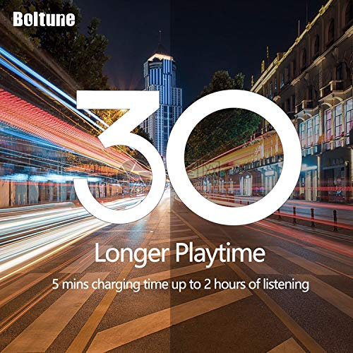 Active Noise Cancelling Headphones, Boltune Bluetooth 5.0 Over Ear Wireless Headphones with Mic Deep Bass, Comfortable Protein Earpads 30H Playtime for Travel Work TV PC Cellphone by Boltune (Image #4)