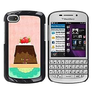 Dragon Case - FOR BlackBerry Q10 - thank you - Caja protectora de pl??stico duro de la cubierta Dise?¡Ào Slim Fit