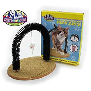 Matty's Pet Stop Cat Arch Self-Grooming and Massage Station with Scratch Pad and Catnip