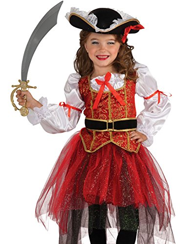 Girl Group Of 3 Halloween Costumes - Rubie's Let's Pretend Princess Of The Seas Costume - Small (4-6)
