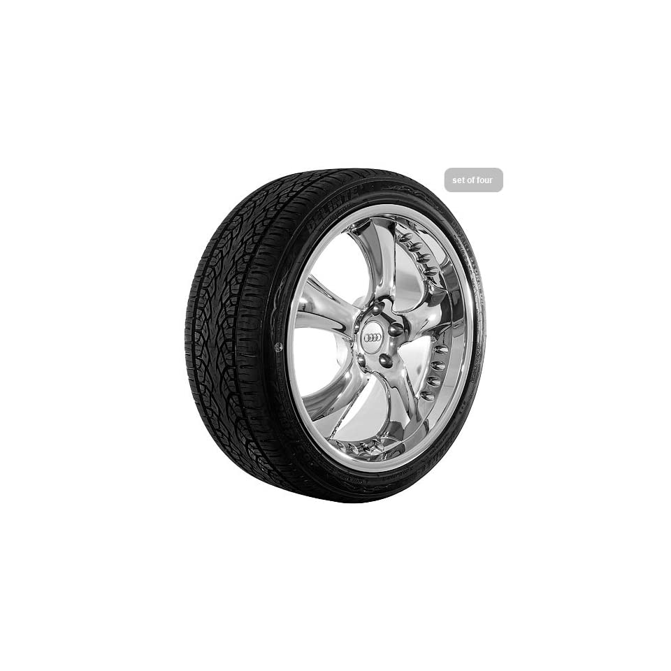 22 Inch Chrome Series Wheels Rims and Tires for Audi (set
