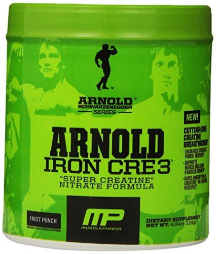 Muscle Pharm Arnold Schwarzenegger Series Iron CRE3 Creatine, Fruit Punch, 30 Servings