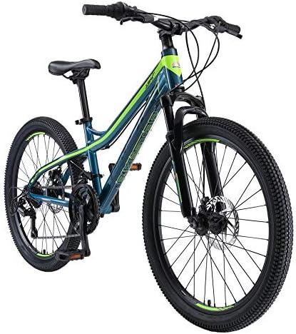 BIKESTAR Kinderfiets voor jongens en meisjes24 inch van 10 jaar24 Mountainbike Dubbele Schijfremmen 21 Snelheid