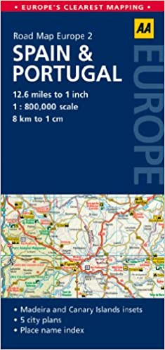 Road Map Spain Portugal Road Map Europe AA Publishing - Portugal map spain