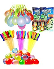 222 Water Balloons in 6 Bunches Self-Tie Summer Splash Fun Swimming Pool Party Quick Fill Self-Sealing Water Balloons