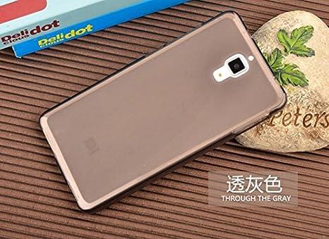 Prevoa ® 丨Funda protectora de silicona Cover Caso Para Xiaomi 4 M4 Mi4 Smartphone - Negro