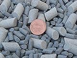 Ceramic Tumbling Media Mixed 10 Lbs. 3/16'' X 3/8'' & 3/8'' X 5/8'' Lapidary Rock Tumbler Tumble G-General – Grey – Abrasive
