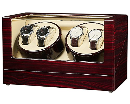 JQUEEN Automatic Quad Watch Winder with Double Quiet Mabuchi Motors