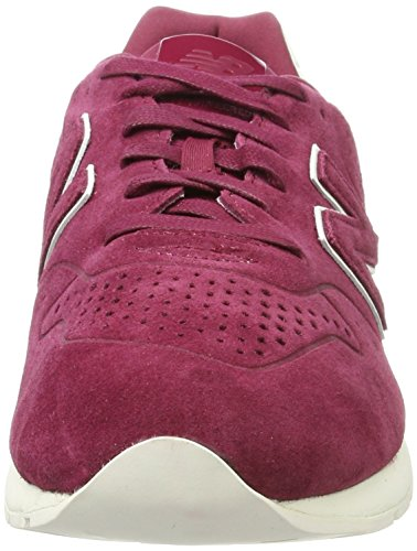 Rojo red Hombre 996 New Balance Para Zapatillas wine Leather wq104xnR