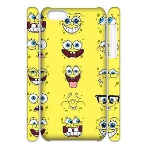 DIY iPhone 5C Case, Zyoux Custom High Qualtiy 3D iPhone 5C Shell Case - Funny Emoji Face