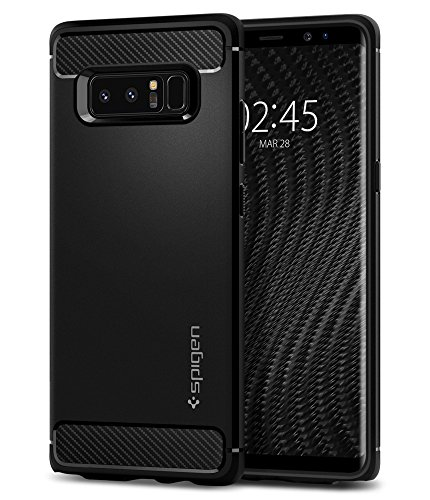 Spigen Rugged Armor Galaxy Note 8 Case with Resilient Shock Absorption and Carbon Fiber Design for Galaxy Note 8 (2017) - Matte Black