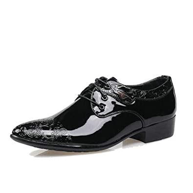 detailed pictures brand quality recognized brands Men's Oxford Dress Shoes Low Cut Leather Shoes with Black ...