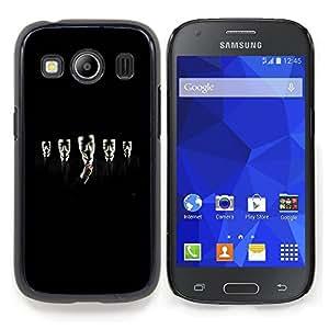 Stuss Case / Funda Carcasa protectora - Rebelde Protesta de privacidad Negro - Samsung Galaxy Ace Style LTE/ G357