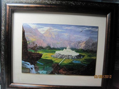 SILMARILLION Framed Fine Art Card TUOR REACHES THE HIDDEN CITY OF GONDOLIN TED NASMITH