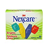 Nexcare Comfort Brights Bandages, Assorted Sizes, 80 Count