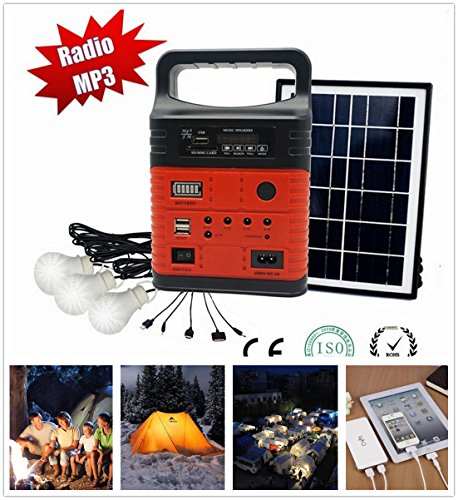 10-Watt Portable Solar Generator kit,Power Inverter,Solar Generator System for Home & Camping,9000mAh Rechargeable Battery Pack UPS Power Supply, Included 6 Watt Solar Panels