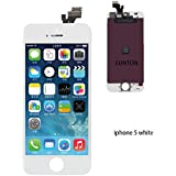 SUNTON LCD Touch Screen Digitizer Glass Replacement Assembly for iPhone 5 withe Repair Tool (White)