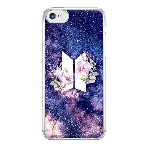 cheaper f4ca8 9c137 Fun Cases - Galaxy Floral BTS Logo Phone Case - iPhone 5c Compatible