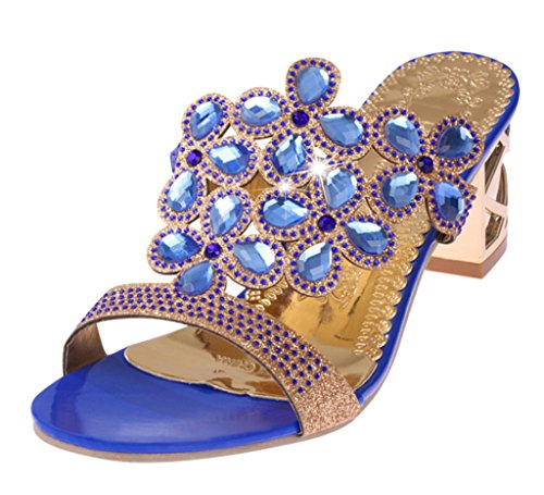 GFONE - sandalias mujer Azul