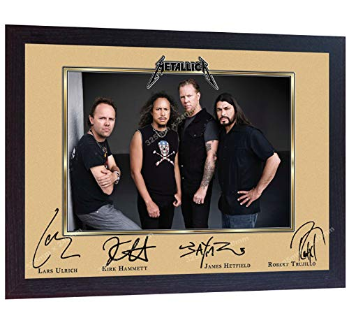 S&E DESING Metallica James Hetfield Signed Print Photo Autographed Poster Music Framed