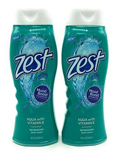 Zest Body Wash, Aqua, 18 Ounce, 2 Pack